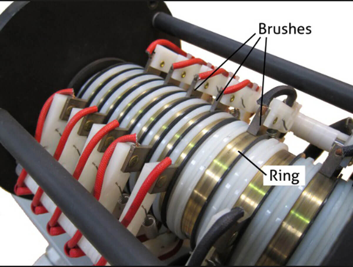 slip ring and carbon brushes